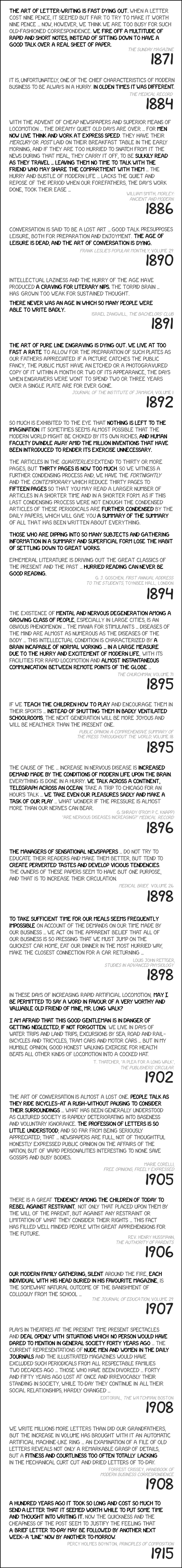 XKCD pace of modern life